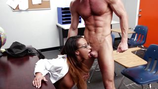 Exquisite Teanna Trump with huge tits gets demolished by phallus