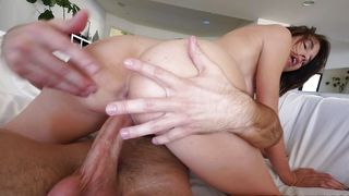 Attractive busty floozy Cece Capella with perky nipples got fucked in front of the camera