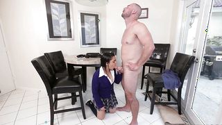 Appealing latin Ada S with curvy natural tits and dude met after a long time and decided to have sex