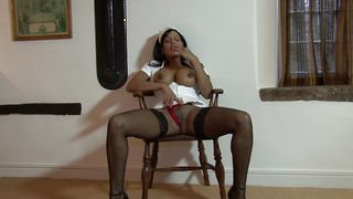 Delightful busty darling India receives a hard rod in her vagina