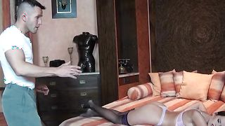 Fresh busty Cindy Dollar is riding a fuck stick and reaches a massive orgasm
